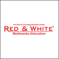 Red and White Multimedia Education Surat Gujarat